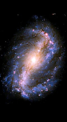 "FireBlueのああ無常。←""無情""かも(~_~&#59;)-棒渦巻き銀河NGC1672.jpg"
