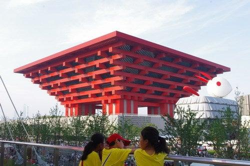中国大連生活・観光旅行通信**-上海万博 中国館