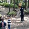 太鼓と笛と子供たちの画像