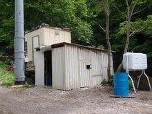 朝日温泉日記-新しい発電機小屋