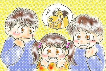 あなたの大切な家族を似顔絵に!~子育てママ絵師つれづれ日記~-ankoさんポストカード用