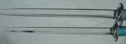 canari♪な吹きガラス☆日記-ウエディングナイフ1