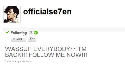 $SE7EN ときどき BIGBANG-SE7EN ツイッター