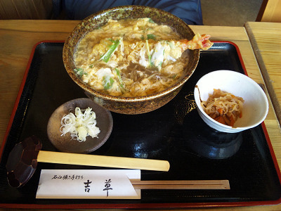 七里・大和田 地域探訪ブログ-吉草_天とじそば