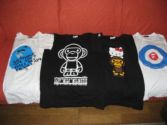 $宅八郎の処刑日記-APEのTシャツ4枚