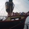 サンタマリア号 乗船の画像