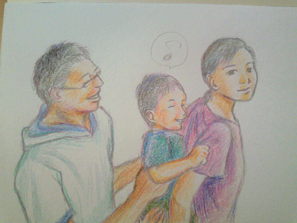 あなたの大切な家族を似顔絵に!~子育てママ絵師つれづれ日記~-#3