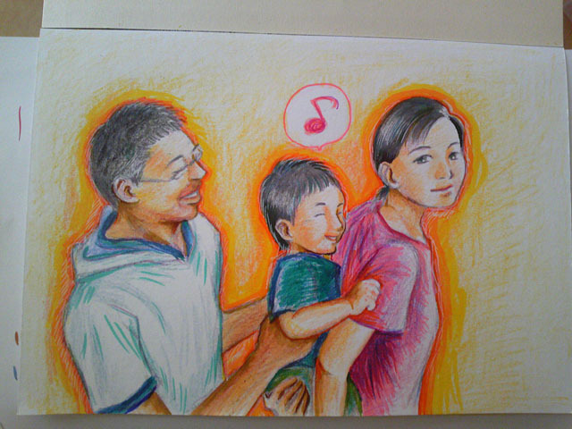 あなたの大切な家族を似顔絵に!~子育てママ絵師つれづれ日記~-#4