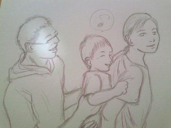 あなたの大切な家族を似顔絵に!~子育てママ絵師つれづれ日記~-#2