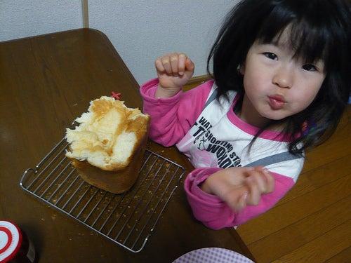 Grumpy Monkey(不機嫌なおさるさん)の観察日記-gm eating bread2