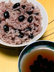 $携帯からこんにちは~☆-黒豆ご飯&黒豆茶