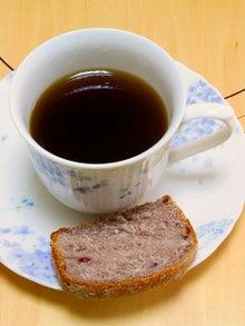 $携帯からこんにちは~☆-黒豆コーヒー&ブラックベリーブレッド