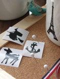 美しすぎる切り絵教室 切り絵作家横山路漫のブログ-切り絵シール