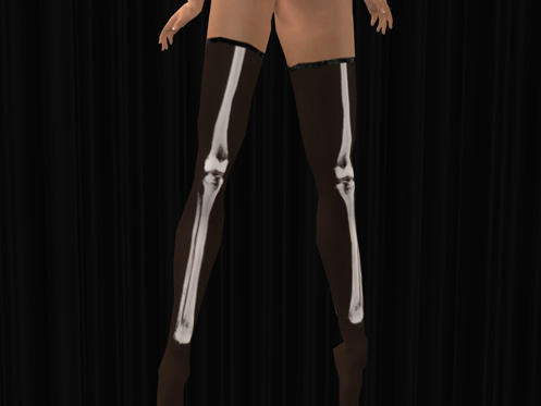 Maya's style / Second Life Fashion-X-ray ストッキングダークカラー
