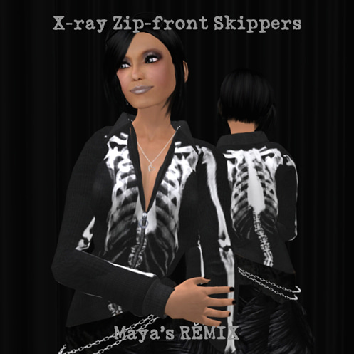 Maya's style / Second Life Fashion-X-ray Zip フロントスキッパー