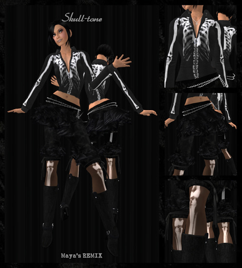 Maya's style / Second Life Fashion-スケルトン/アウトフィット