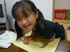 Grumpy Monkey(不機嫌なおさるさん)の観察日記-gm drawing nigaoe aug30