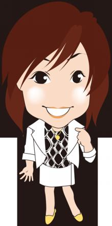 $可愛い似顔絵作成します。名刺やブログで使って下さい。-FP事務所似顔絵