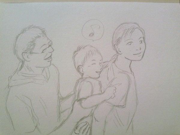 あなたの大切な家族を似顔絵に!~子育てママ絵師つれづれ日記~-#0