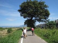 歩き人ふみの徒歩世界旅行 日本・台湾編-桂川の自転車道