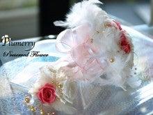 Plumerry(プルメリー)プリザーブドフラワースクール (千葉・浦安校)-フェザー ホワイトピンクブーケ 羽