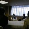 谷垣総裁にインタビュー。の画像