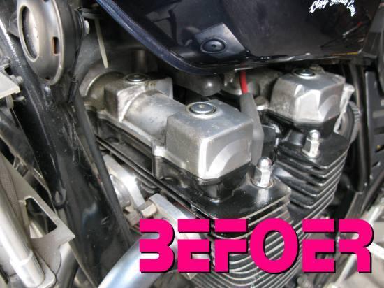 レオピン十兵衛のXJR1200ブログ-xjr エンジンヘッド01