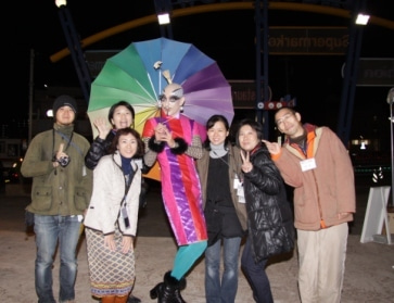 街じゅうアートin北九州2010スタッフブログ-きむらとしろうじんじん「野点」10.26