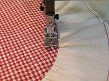 ヒロアミーの日記-ギャザーフリル縫い方