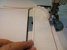 ヒロアミーの日記-ギャザーミシンの縫い方写真