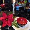 クリスマスのテーブルコーディネートを漆器で♪の画像