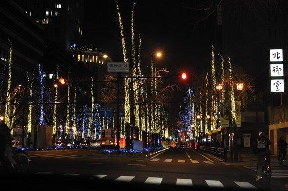 茶々吉とデジ一 のんびり旅-2010/12/25御堂筋2