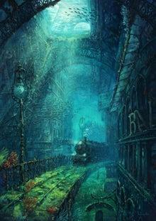 イラスト幻想的な水都市のイラスト ゼログラ 世界の情報