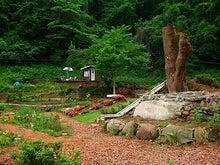能登ふれあいガーデン-ツリーハウスの基礎木