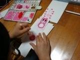 $自宅サロン教室 趣味を仕事に~粘土・フェイクスイーツ・ろうの花・アロマ・カラー~大阪市内 住吉大社近く-娘の年賀状