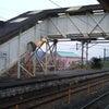 昭和な跨線橋の画像