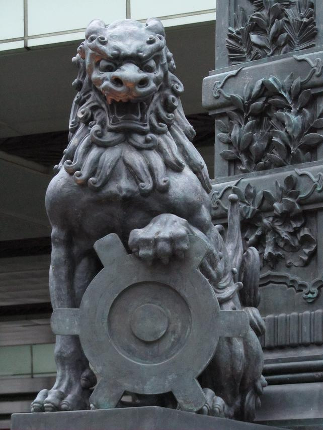 日本橋 狛犬 画像