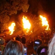 地元の火祭り。