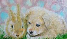 ファンタジー油絵描きErico(エリコ)の動物・ペット肖像画館-ウサギ犬
