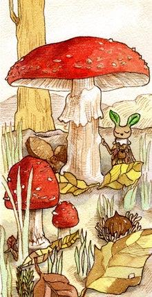 $もののけ森のちびモッケ(クークーのこと改め)-ちびモッケと紅テング茸