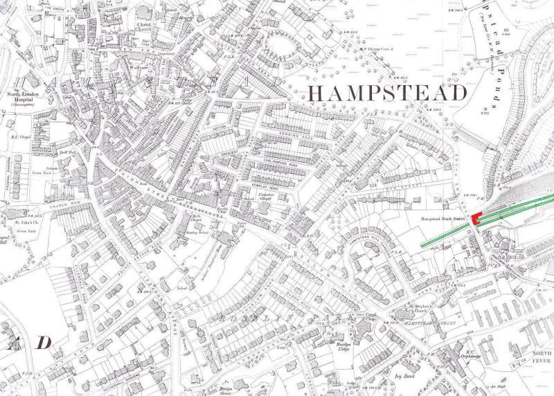 1894年と1914年のハムステッドの...