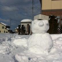 雪だるま作りました