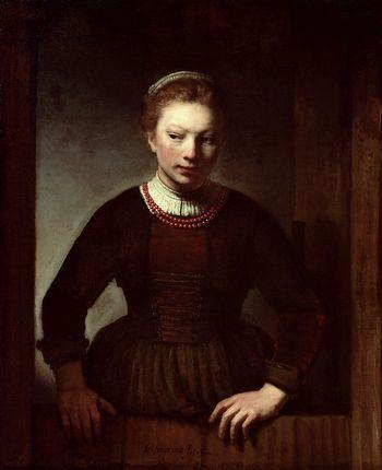 REMOVE-Woman at a dutch door