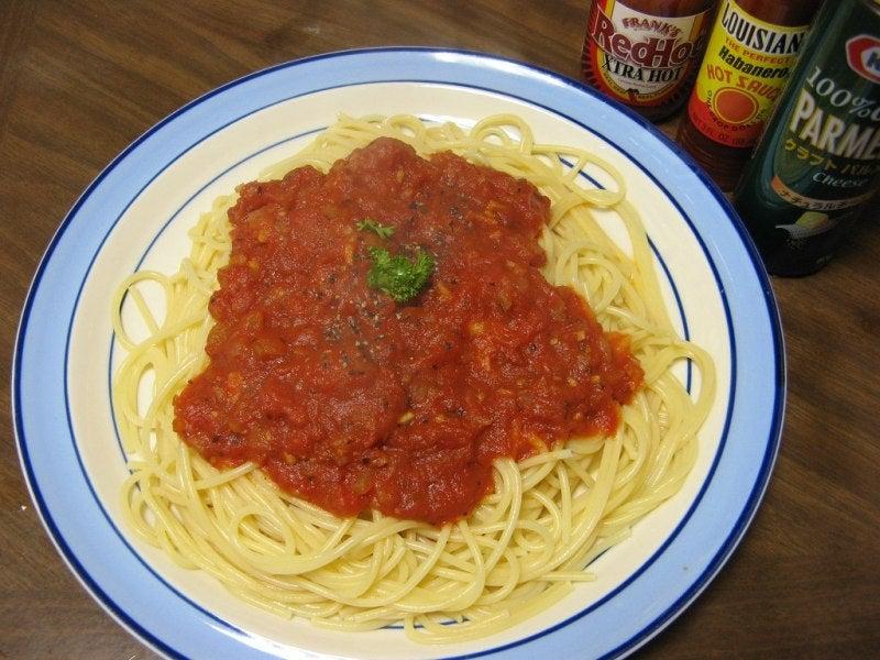 宅ひとりごはん-2/3 昼 トマトソースのパスタ