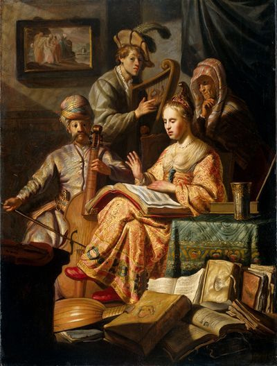 REMOVE-Allegorisch musicerend gezelschap