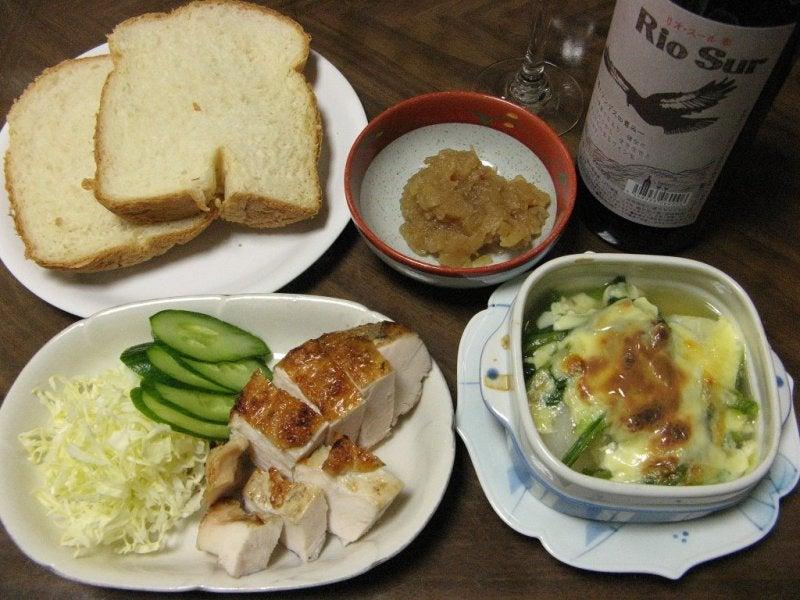 宅ひとりごはん-2/6 晩 鶏のパリパリ焼き