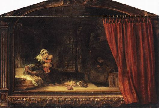 REMOVE-The Holy Family with a Curtain