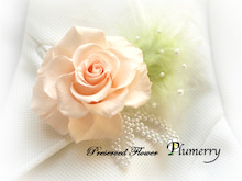 Plumerry(プルメリー)プリザーブドフラワースクール (千葉・浦安校)-手作りコサージュ 緑