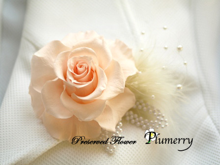 Plumerry(プルメリー)プリザーブドフラワースクール (千葉・浦安校)-手作りコサージュ 黄色