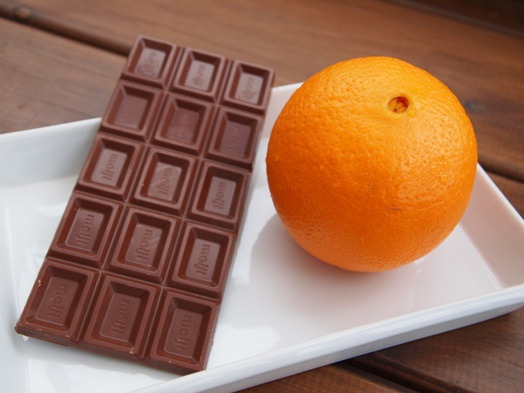 長澤家のレシピブログ-チョコオレンジ食材画像